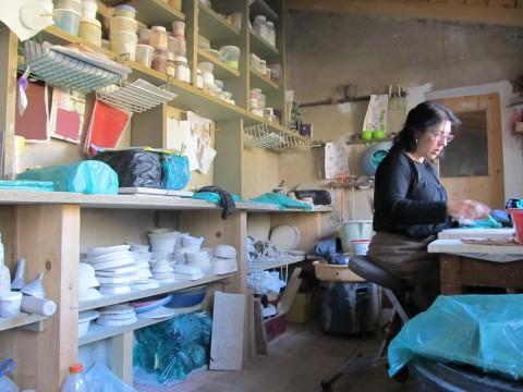 Myriam Peignon atelier céramique Aniane 34150